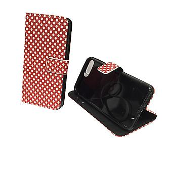 Mobile phone case pouch for phone Apple iPhone 7 plus polka dot Red