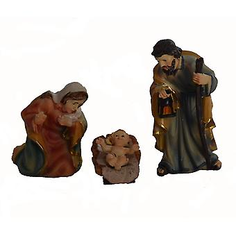 3-piece Nativity figurines. Set polyresin Nativity figures of set of 3 19 cm