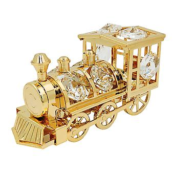 Table decoration locomotive 80x50mm with glass stones