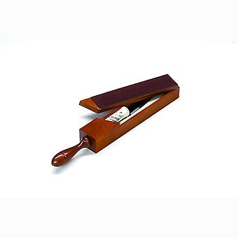 Double sided leather covered wooden strop box Direct from France