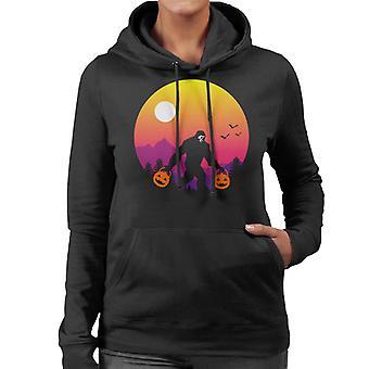 Halloween Bigfoot Women's Hooded Sweatshirt