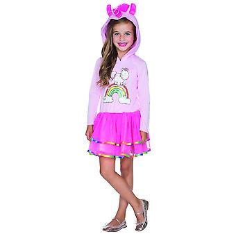 Theodor hooded dress kids Unicorn costume Carnival Unicorn pink