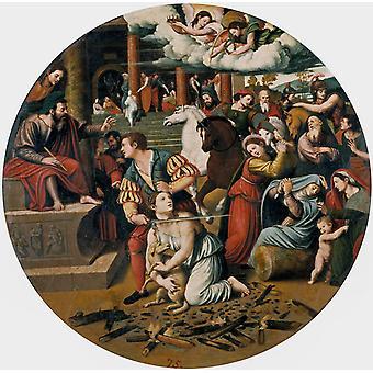 Le martyre de Sainte-Agnès, Juan Vicente Masip, 50x50cm