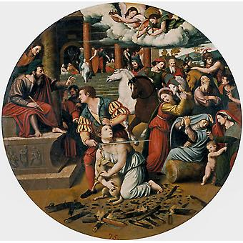 The Martyrdom of St. Agnes, Juan Vicente Masip, 50x50cm