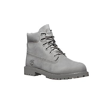 Timberland 6 boots real leather boots gray