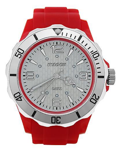 Waooh - FC38 Watch White Dial & Bezel Silver