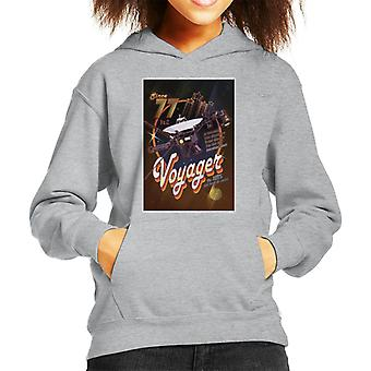 NASA Voyager Disco Interplanetary Travel Poster Kid's Hooded Sweatshirt