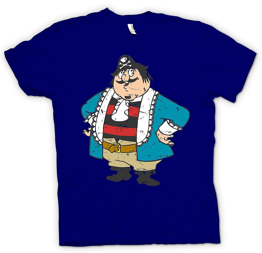 Heren T-shirt - Captain Pugwash Cartoon - Retro