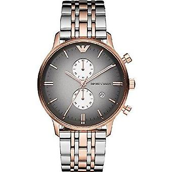 Armani watches ar1721 rose gold-tone & stainless steel multifunction mens watch