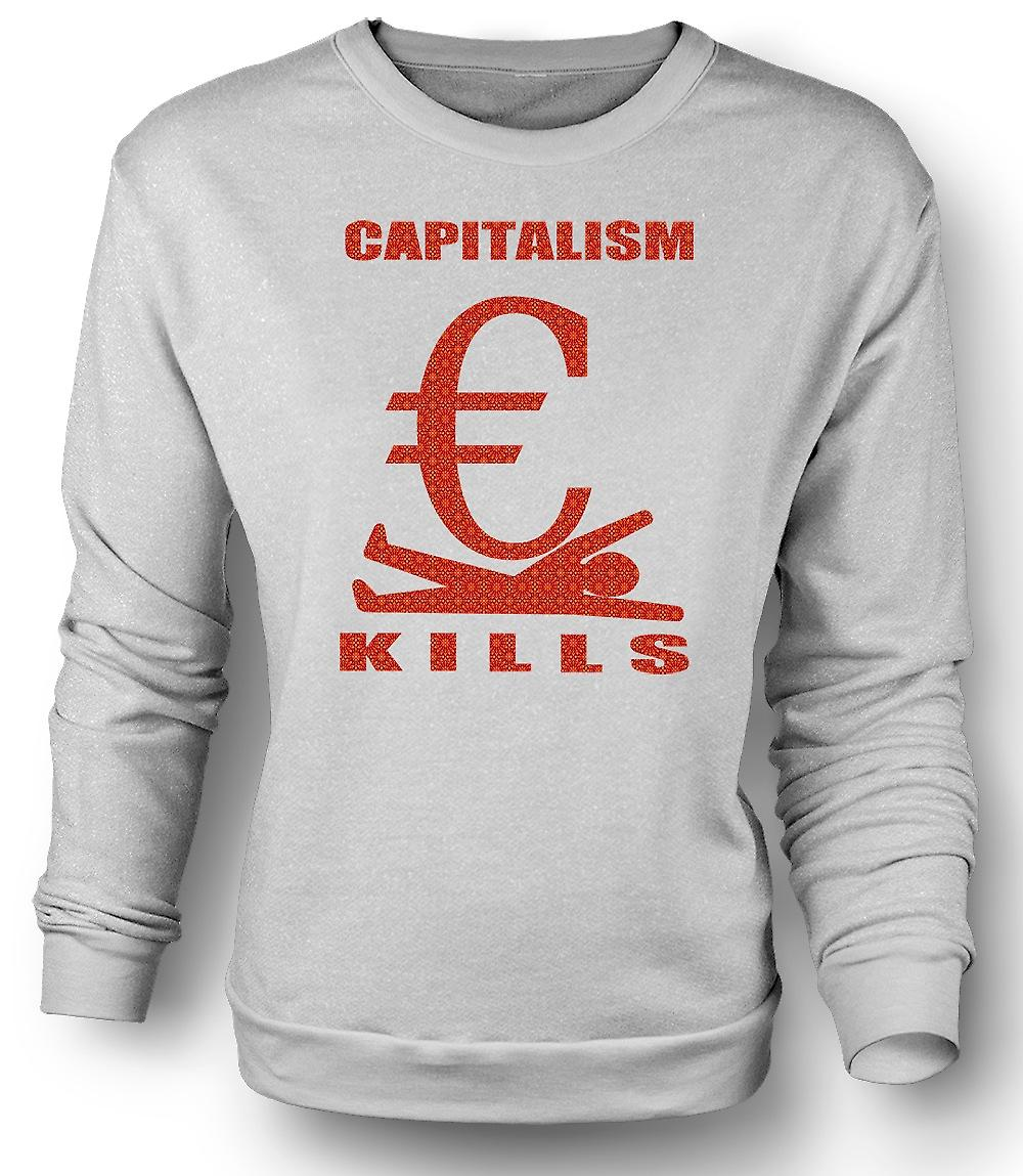 Mens Sweatshirt Capitalism Kills - G20
