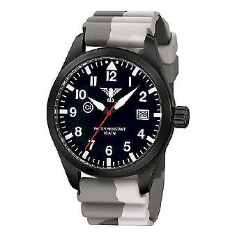 KHS watches mens watch Airleader black steel KHS. AIRBS. DC5