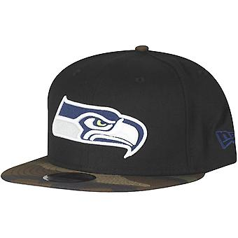Black camo new era 9Fifty Snapback Cap - Seattle Seahawks