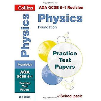 AQA GCSE 9-1 fysik Foundation praktiken Test papper: krympfolie skola pack (Collins GCSE 9-1 Revision) (Collins GCSE 9-1 Revision)