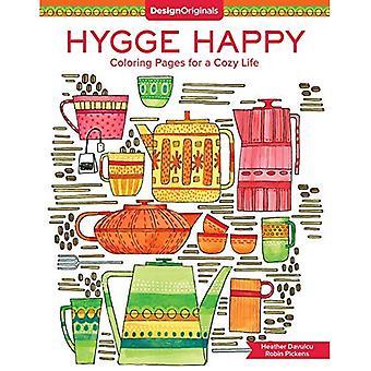 Hygge gelukkig kleurboek: Kleurplaten voor een gezellige leven