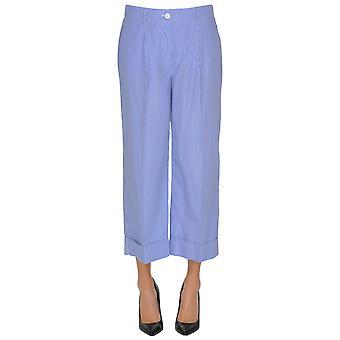 P.a.r.o.s.h. Blue Cotton Pants