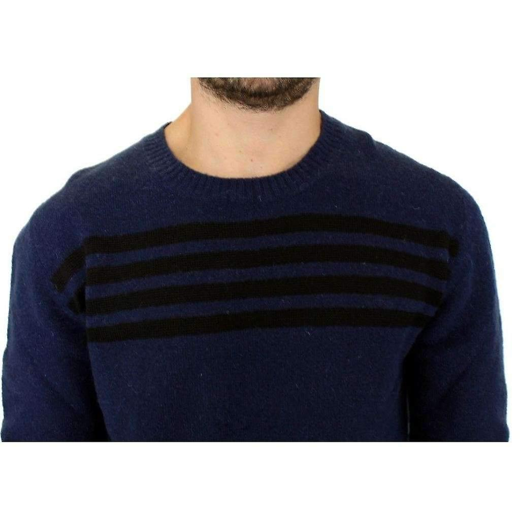 Costume National Blue Striped Sweater Pullover -- SIG1240709