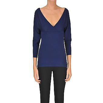 Pinko Blue Viscose Sweater