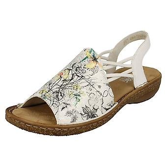 Ladies Rieker Slingback Flat Sandals 628D1