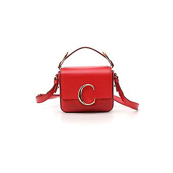 Chloé Red Leather Shoulder Bag