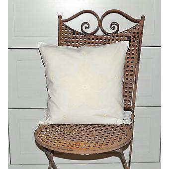 Hossner romantisk pude dække lurvet vintage creme land hjem hækling 40 x 40 cm