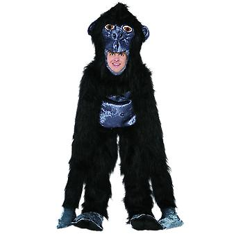 Mens Gorilla Monkey Animal Fancy Dress Costume