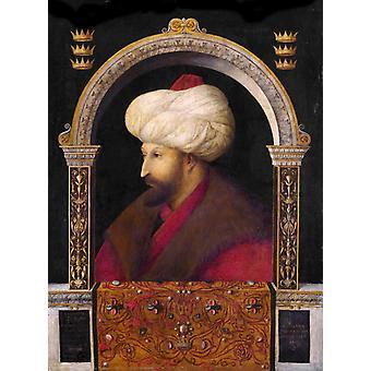 Mehmed II, Gentile Bellini, 50x37cm