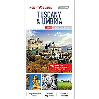 Insight Guides Travel Map Tuscany & Umbria - 9781786719393 Book