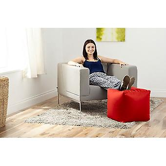 Red Faux Leder Bean Bag Cube Foothocker Pouffe Seat
