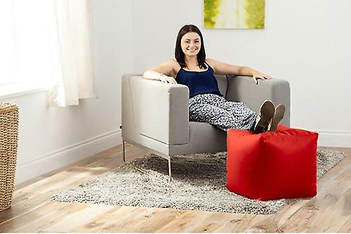 Faux Seat Leather Red Pouffe Bean Bag Footstool Cube WxBeCdor