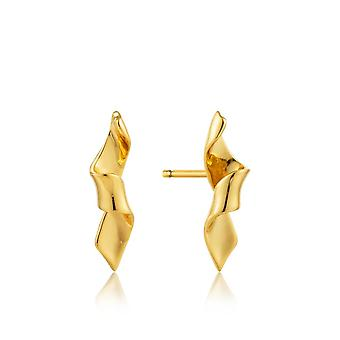 Ania Haie Gold Plated Sterling Silver 'Helix' Stud Earrings