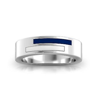 Villa Nova University-asymmetrisk emalj ring i mörkblå och vit