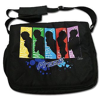 Messenger Bag - Free! - New Group Rainbow Panel Anime Licensed ge82127