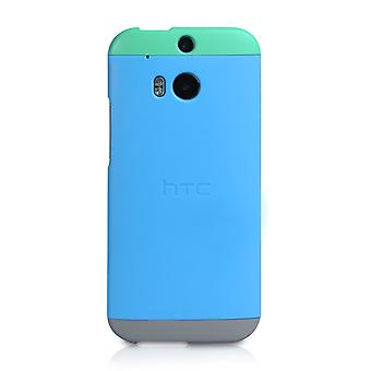 Official HTC One M8 Double Dip Hard Shell Case Green Blue
