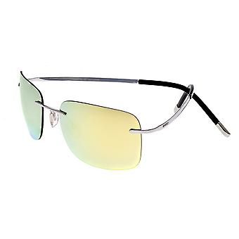 Breed Orbit Titanium Polarized Sunglasses - Silver/Yellow