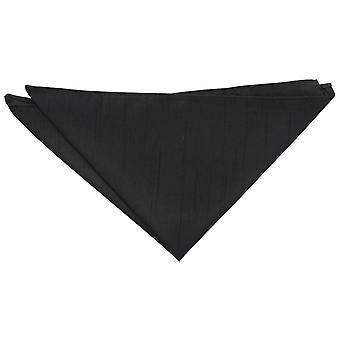 Black Shantung Pocket Square