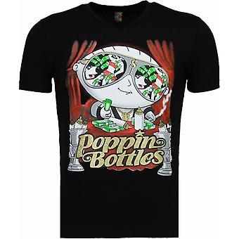 Poppin Stewie-T-shirt-Black