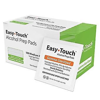 Easy touch alcohol prep pads, gamma-sterilized, 100 ea