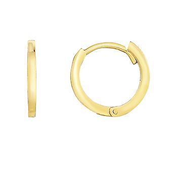 14K Gold Runde Huggie Creolen, 12mm