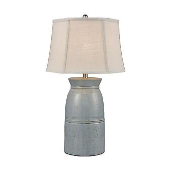 Lightly antiqued blue glaze mackinac table lamp stein world