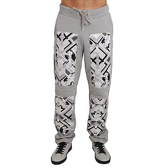 Training Casual Gray Cotton Trousers Mens