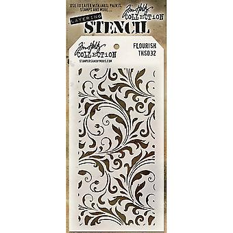 Tim Holtz couches pochoir 4.125 « X8.5 »-Flourish THS-032