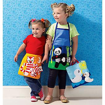 Girls' Apron Tote And Toy  Pattern K3992