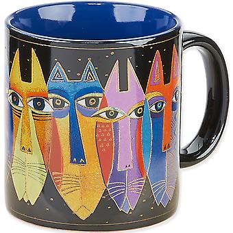 Laurel Burch Mug artistique Collection Tribal chats Lbm 308