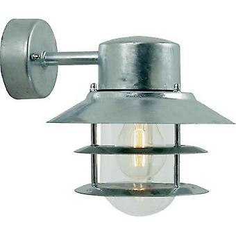 Outdoor wall light Energy-saving bulb, LED E27 60 W Nordlux Blokhus 25051031 Steel