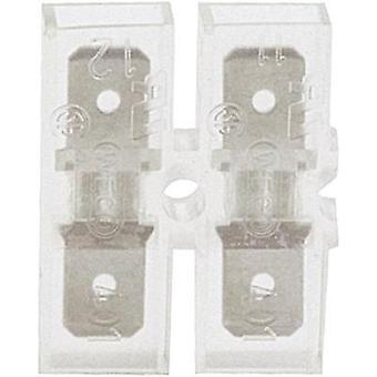Blade connector Connector width: 6.3 mm Connector thickness: 0.8 mm 180 ° Insulated Transparent Klauke 8002 1 pc(s)