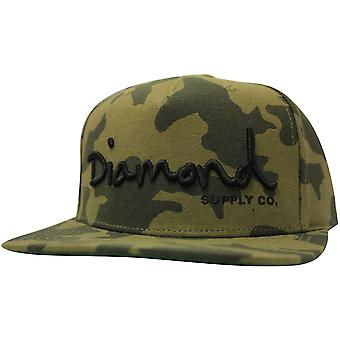 Diamond Supply Co OG Script Snapback Camo