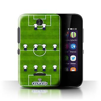 STUFF4 Case/Cover for Nokia Asha 230/4-4-2/White/Football Formation