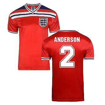 Score Draw England World Cup 1982 væk Shirt (Anderson 2)