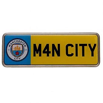 Manchester City Number Plate Badge