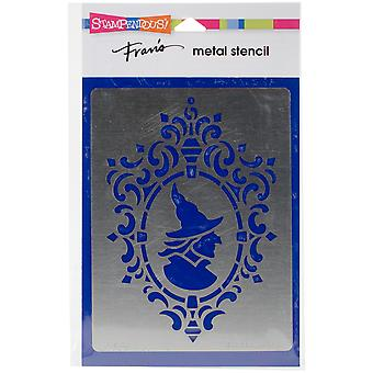 Stampendous Metal Stencil-Framed Witch FMS-4036